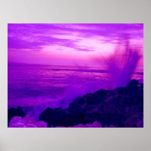 Sunset Splash Print