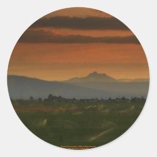 sunset sprinkers #2 classic round sticker