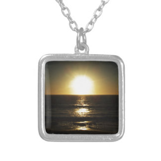 Sunset Square Pendant Necklace