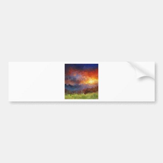 Sunset Squared Bumper Sticker