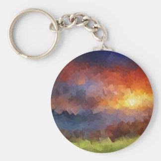 Sunset Squared Keychain