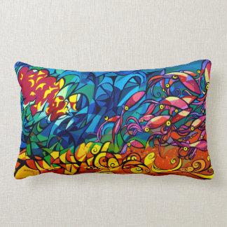 Sunset Squid Lumbar Pillow