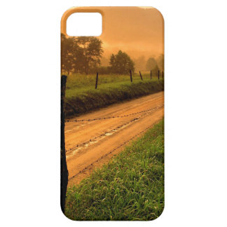 Sunset Ss Lane At Cades Cove Nationa iPhone 5/5S Cases