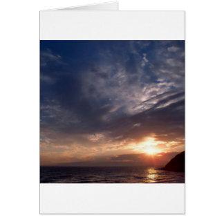Sunset St Bees Cumbria Card