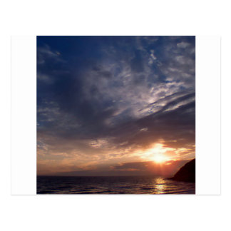 Sunset St Bees Cumbria Postcard