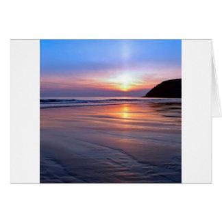 Sunset St Bees Footprint Card