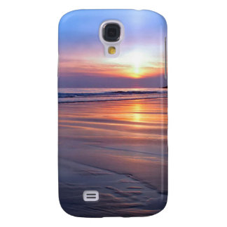 Sunset St Bees Footprint Galaxy S4 Cover