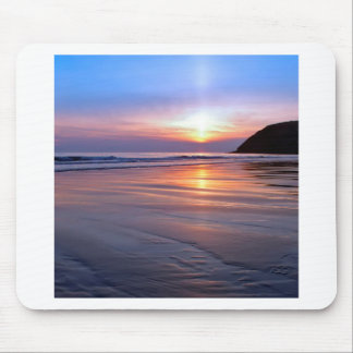 Sunset St Bees Footprint Mouse Pad