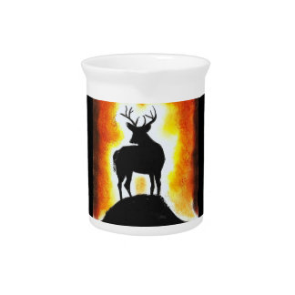 SUNSET STAG DRINK PITCHER
