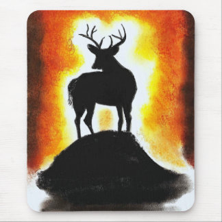 sunset stag mouse pad
