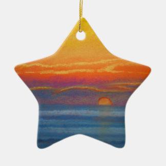 sunset star ornament