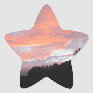 Sunset Star Sticker