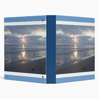 Sunset Storm Beach Avery Binder