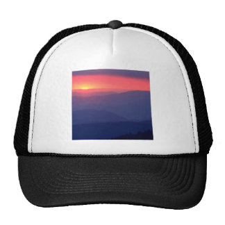 Sunset Storm Clouds Clingmans Tennessee Mesh Hats