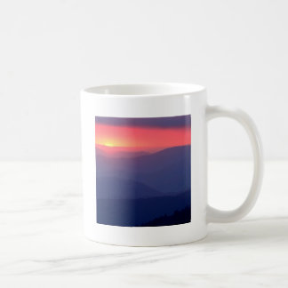 Sunset Storm Clouds Clingmans Tennessee Coffee Mugs