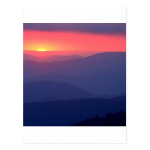 Sunset Storm Clouds Clingmans Tennessee Postcards