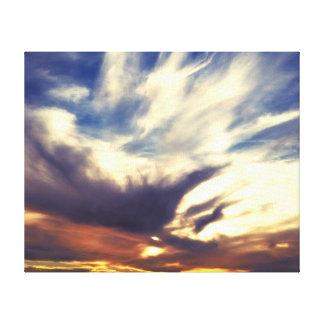 Sunset Streaked Sky Canvas Print