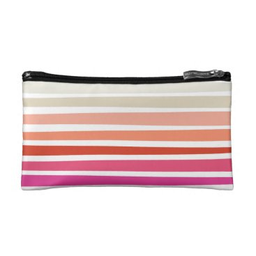 Beach Themed Sunset Stripe Cosmetics Bag