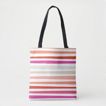 Beach Themed Sunset Stripe Tote