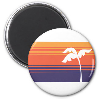 Sunset Stripes Refrigerator Magnet
