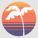 Sunset Stripes Stickers