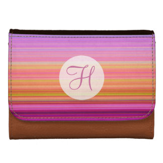 Sunset stripes w/ monogram wallet