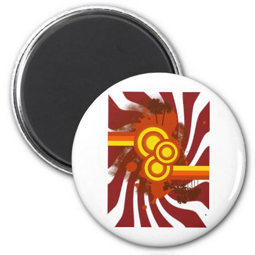 Sunset Style 2 Inch Round Magnet