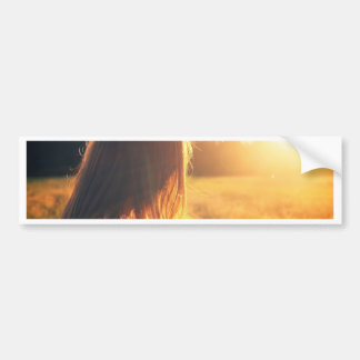 sunset style photography design bumper sticker