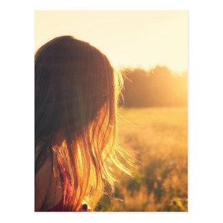 sunset style photography design postcard