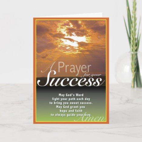Sunset Success Card