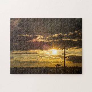 sunset sun jigsaw puzzles