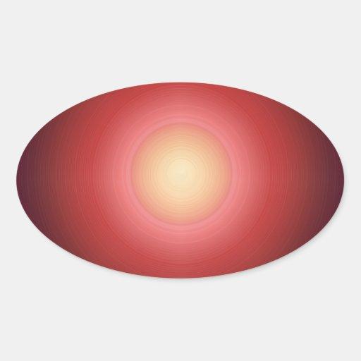 Sunset SunEnergy : Artist Created Graphics Oval Sticker