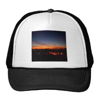 Sunset Sunlight Blankets City Mesh Hats