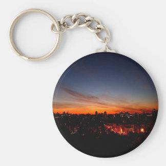 Sunset Sunlight Blankets City Keychains