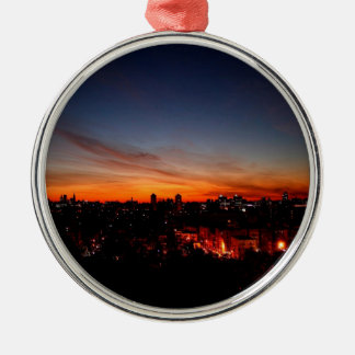 Sunset Sunlight Blankets City Christmas Tree Ornaments