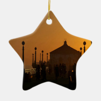 Sunset Sunlight Walk Night Christmas Tree Ornaments