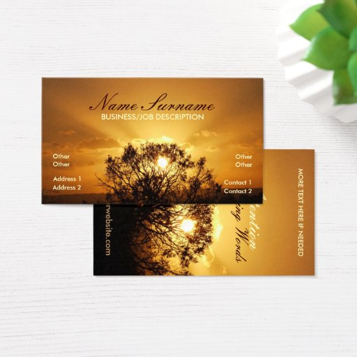 Sunset Sunrays Business Card