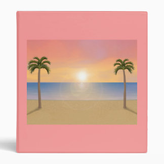 Sunset / Sunrise Beach Scene: Custom Binder