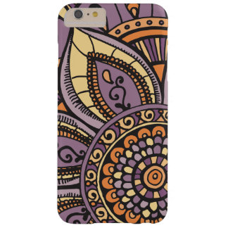 Sunset Sunrise Colors Girly Floral Mandala Design Barely There iPhone 6 Plus Case