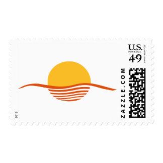 Sunset - sunrise postage stamp