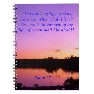 sunset sunrise psalms 27 Bible verses Notebook