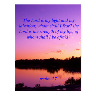 Sunset sunrise psalms 27 postcard