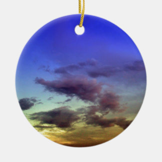 Sunset / Sunrise Sky & Clouds Ceramic Ornament