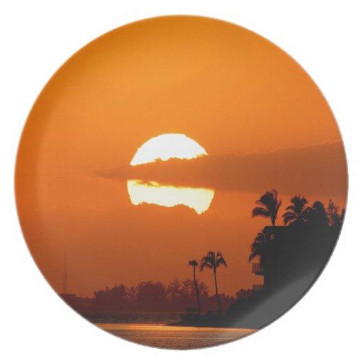 Sunset Sunsplit Dinner Plates