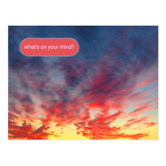 Sunset Support System Airmail Postcard