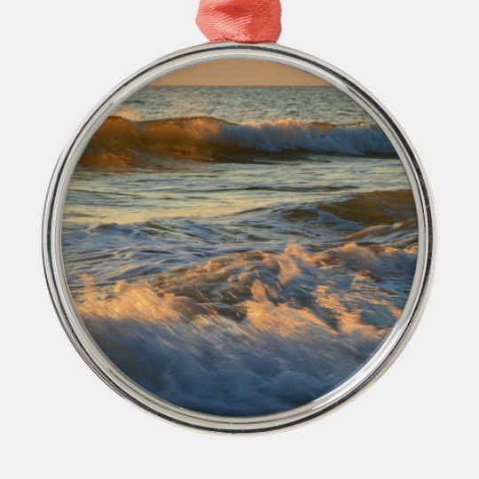 Sunset Surf Metal Ornament