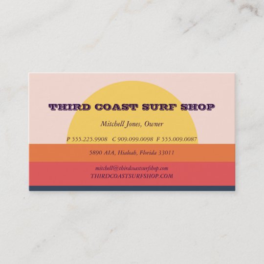 Sunset surf shop professional business business card zazzle sunset surf shop professional business business card reheart Choice Image