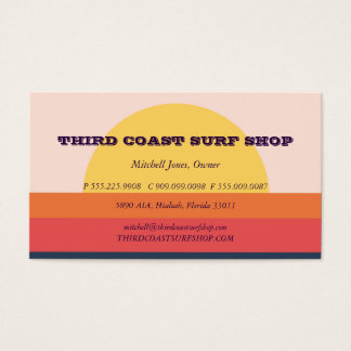 Sunset Surf Shop Professional Business Business Card
