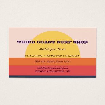 Professional Business Sunset Surf Shop Professional Business Business Card