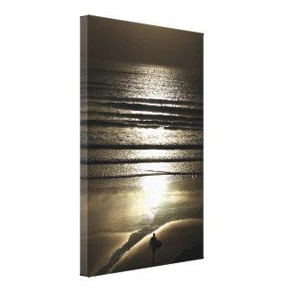 Sunset Surfer at Polzeath Canvas Print